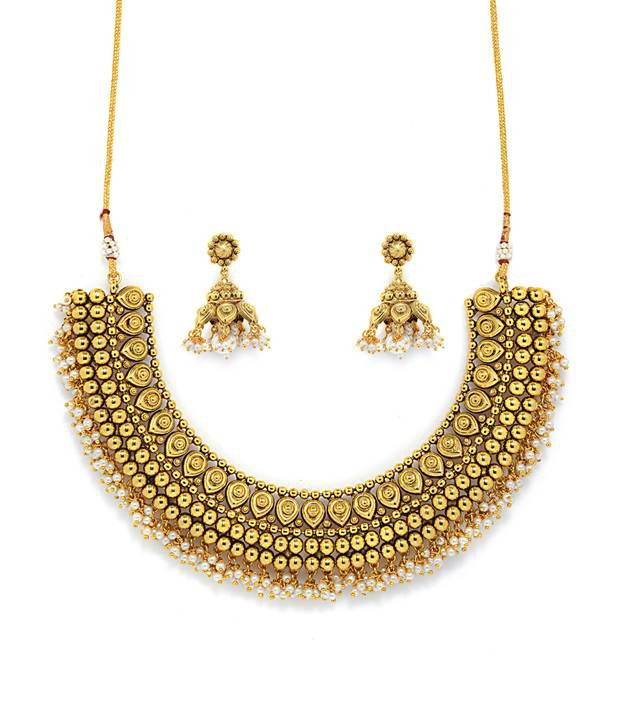 Alankruthi Gold Plated Copper Traditional Necklace Set