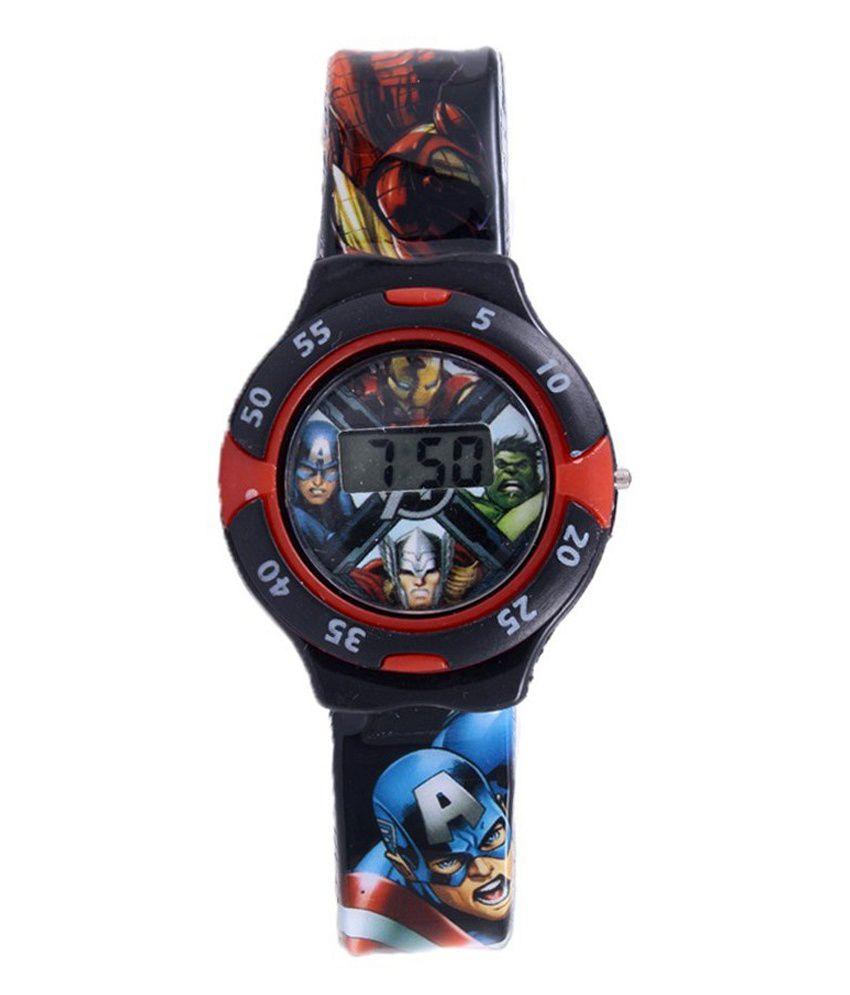 Disney Marvel Red Black Avengers Digital Watch For Boys Price In Batman