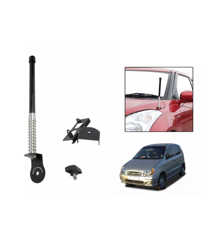 Spedy Front And Rear Stylish Vip Car Antenna Black- Hyundai Santro