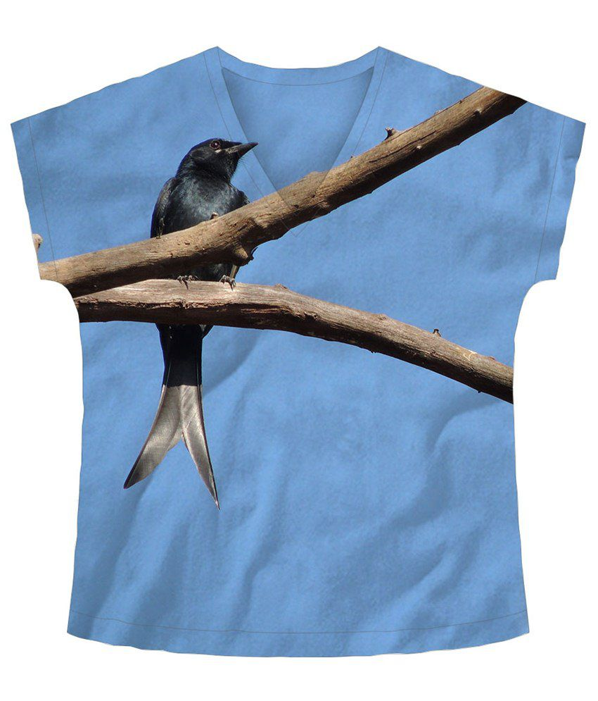 Freecultr Express Blue & Brown Half Sleeve T Shirt