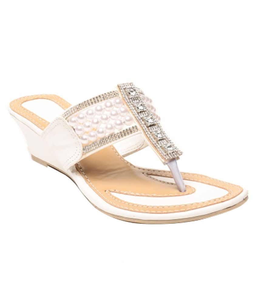 Anand Archies Durable Silver Heeled Slip-ons
