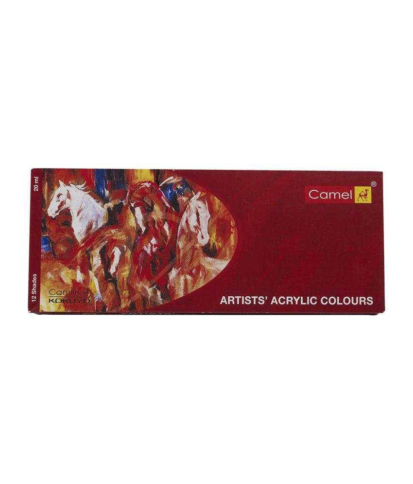 Camlin Artists Acrylic Colour Box - 9ml Tube(700-L-12)