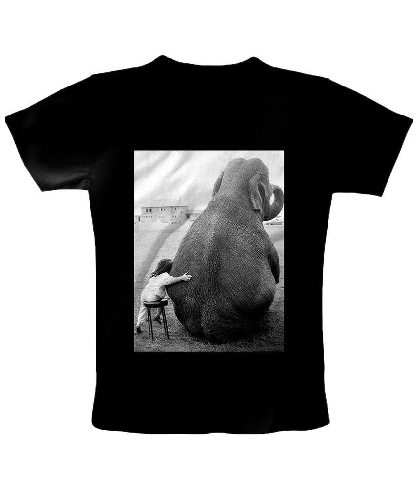 Freecultr Express Black & Gray Best Friend Round Neck Printed T Shirt