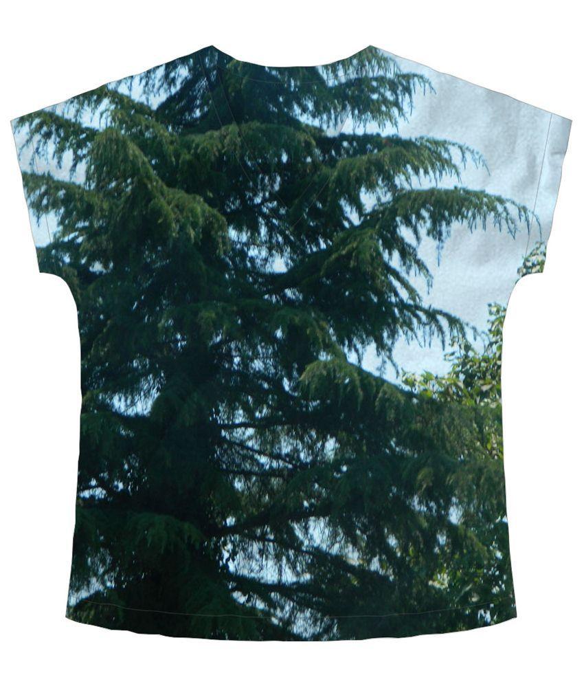 Freecultr Express Green & Blue Atop Half Sleeve T Shirt