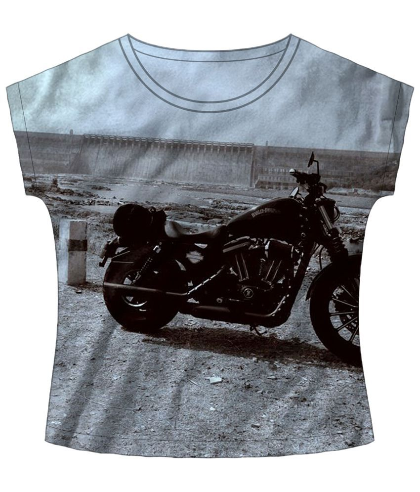 Freecultr Express Rustic Bike Gray Graphic T Shirt