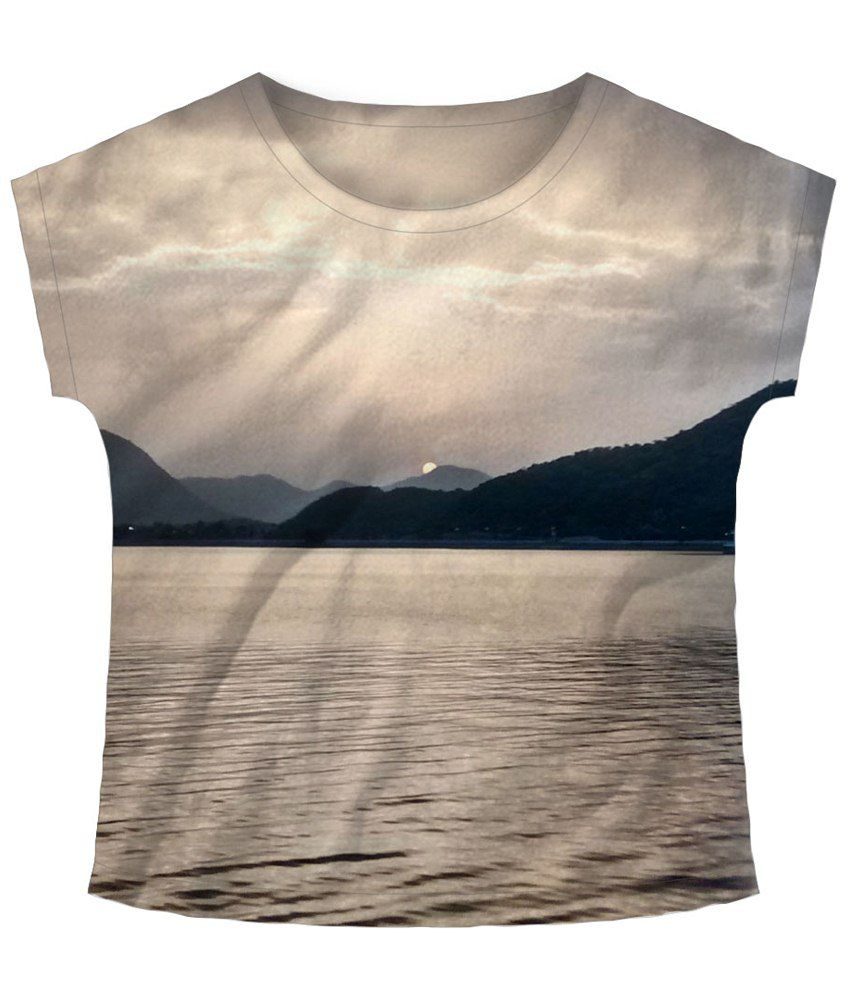 Freecultr Express Sun Peak Gray Graphic T Shirt