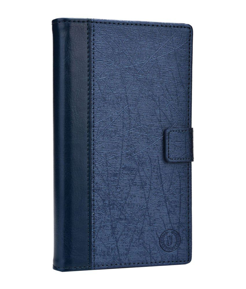 Jo Jo Saturn Series Leather Flip Cover For Apple iPhone 4 - Dark Blue