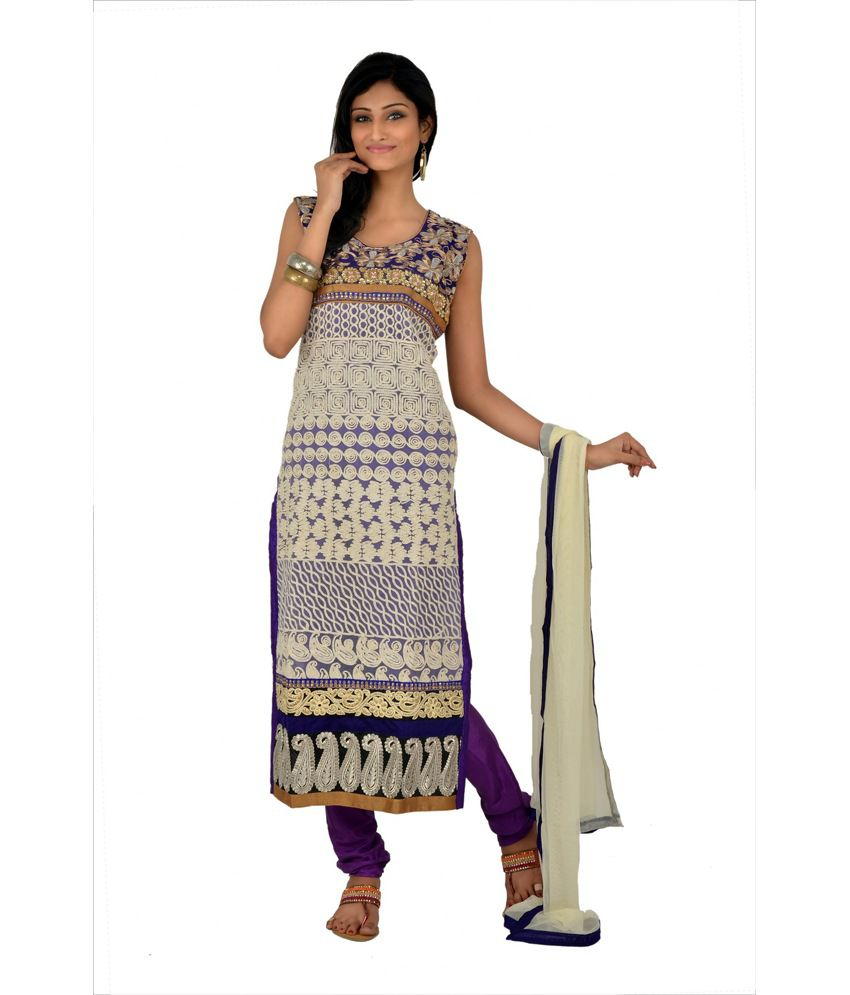 Manavi Circle Purple Embroidered Stitched Anarkali Salwar Suit