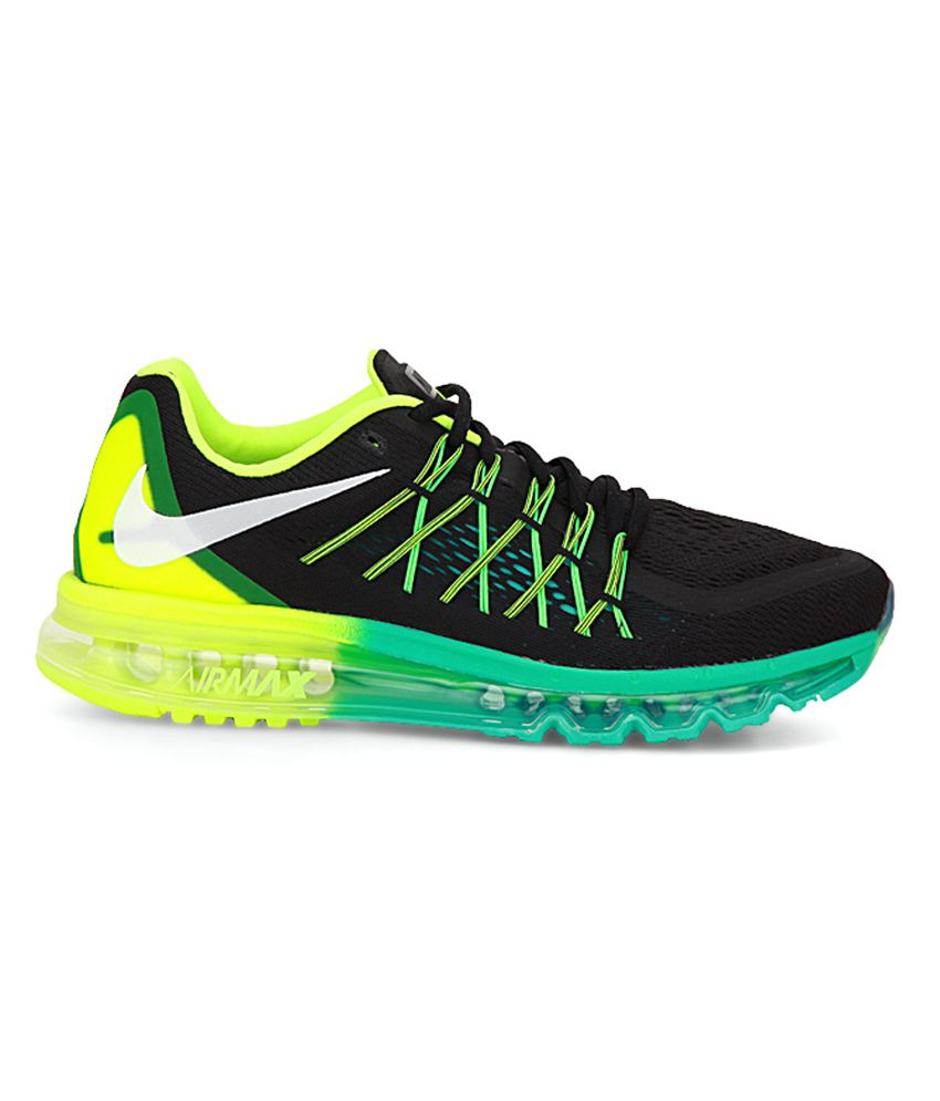 size 40 90061 9d676 ... Nike Air Max 2015 Black Sport Shoes ...