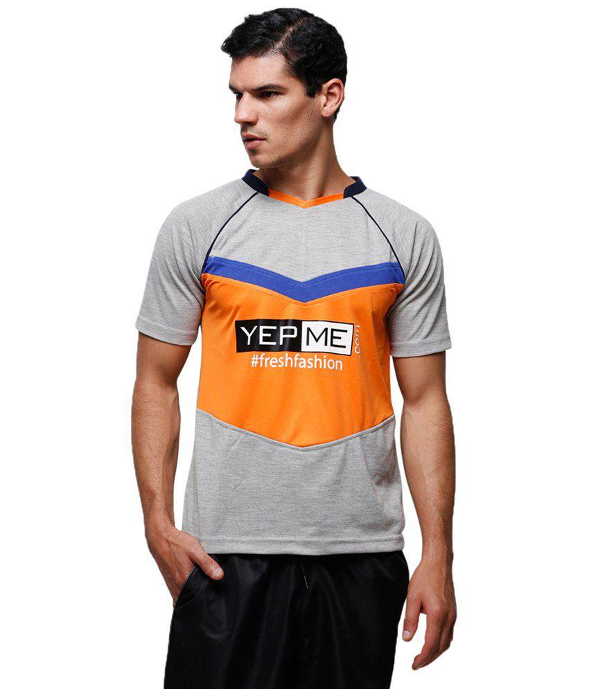Yepme Admirable Gray Jamie Sports Soccer T Shirt