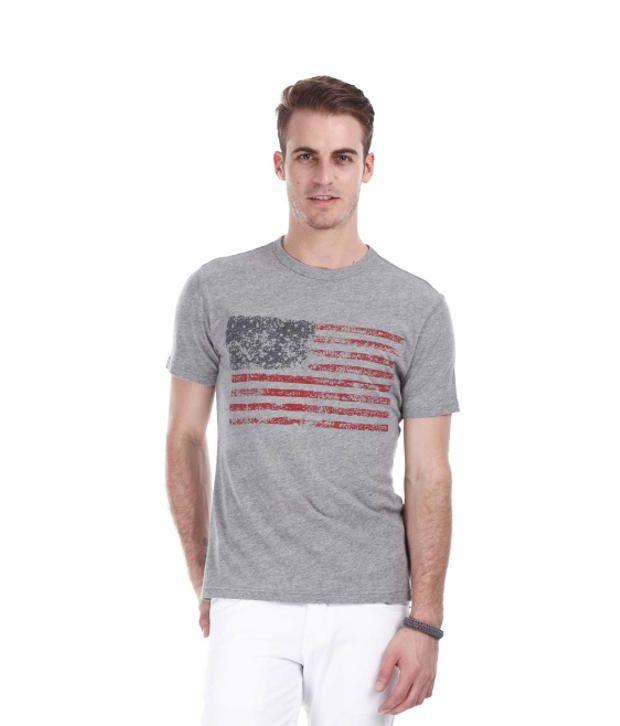 Zobello Gray Cotton T Shirt