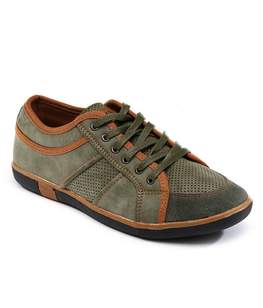 Numero Uno Green Casual Shoes