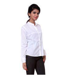 Teemoods White Cotton Shirts