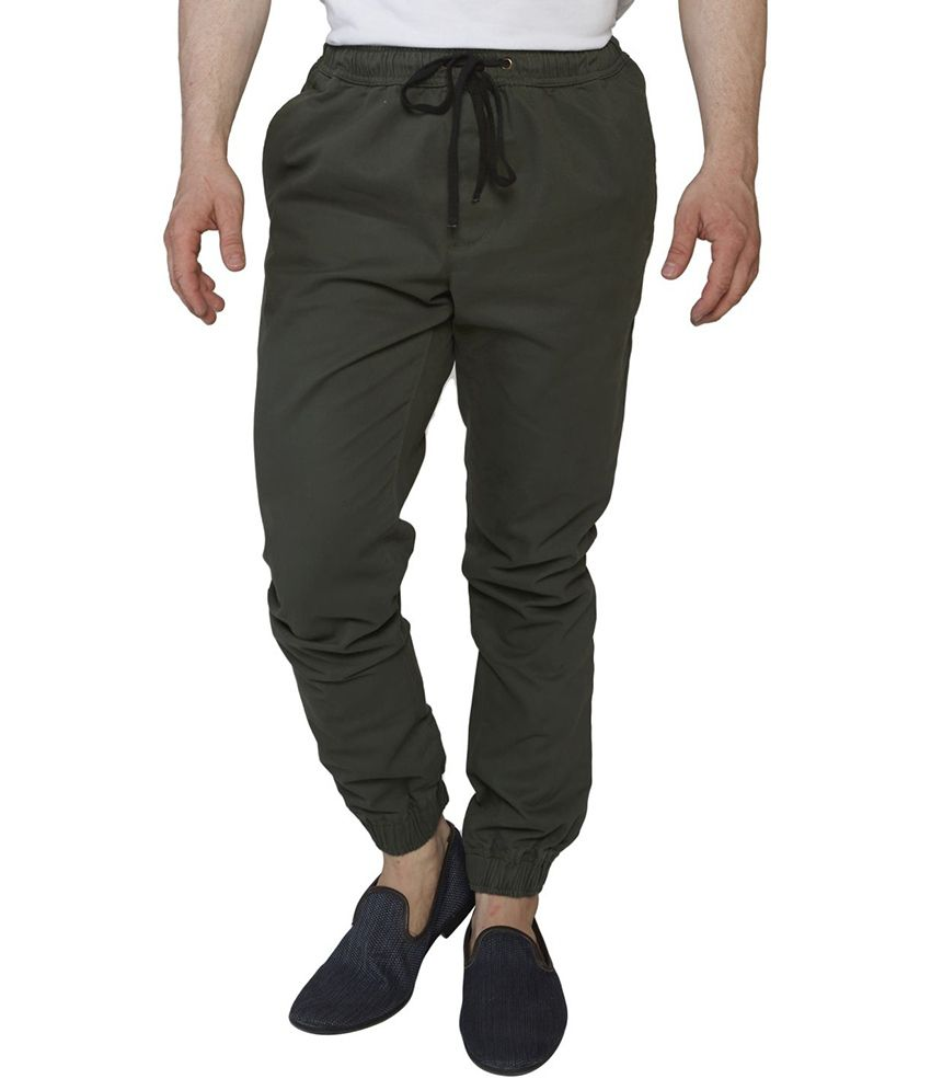 Globus Green Cotton Men's Casual Pant