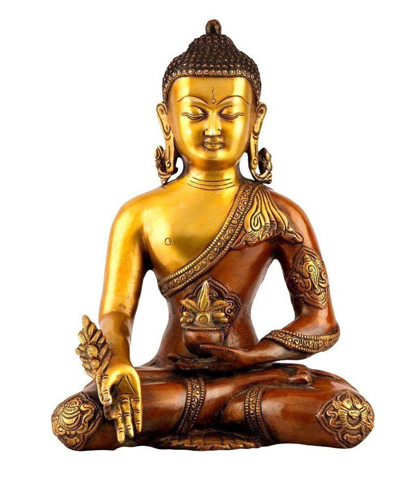Collectible India Brass Buddha Idol