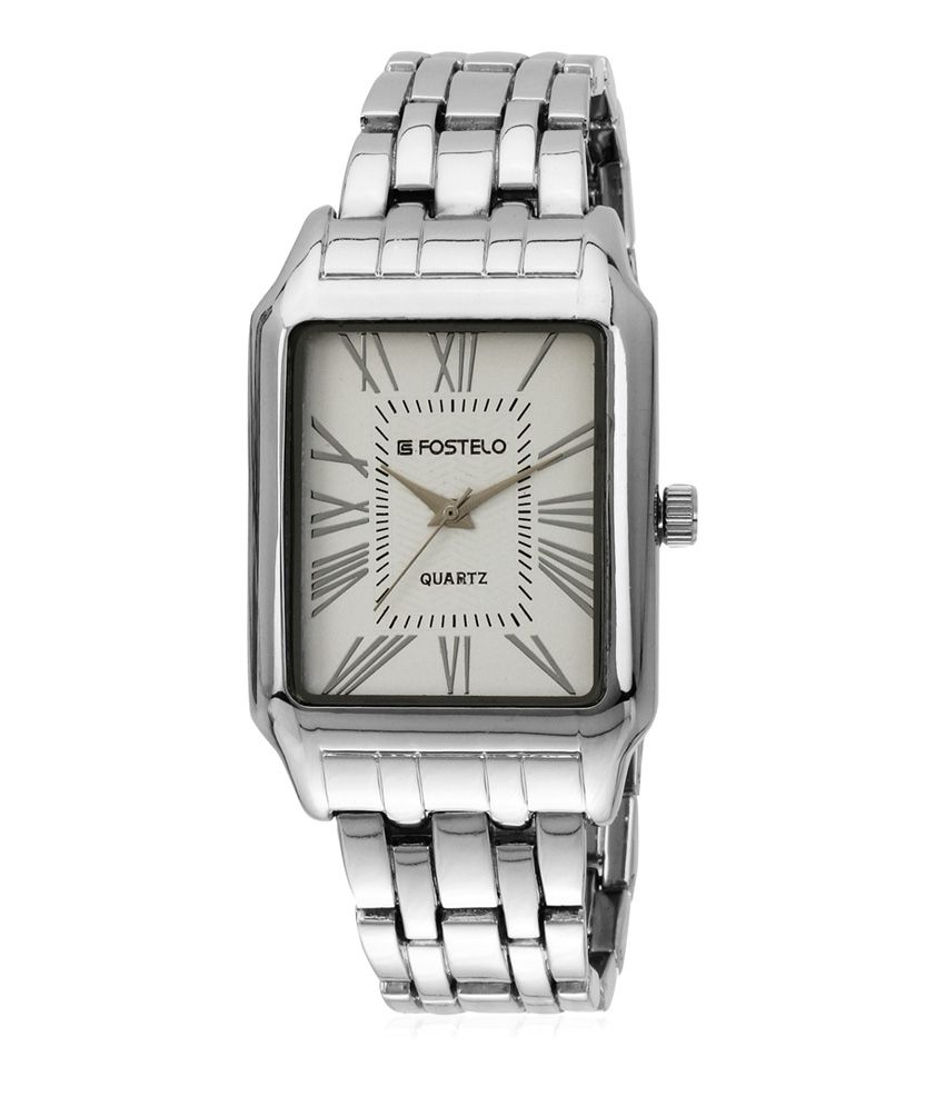 Fostelo Silver Men's Wrist Watch