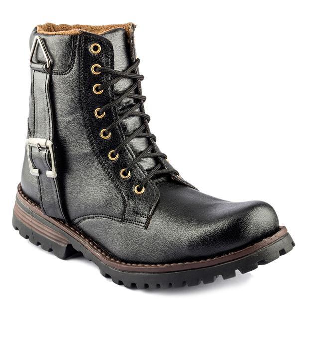 Golden Sparrow Mens Black smart Boots