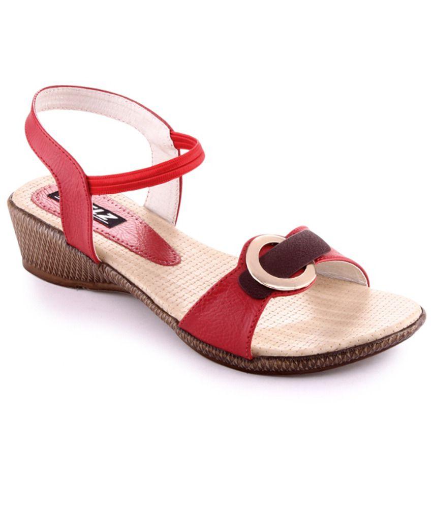 Kielz Simple Red Flat Sandals