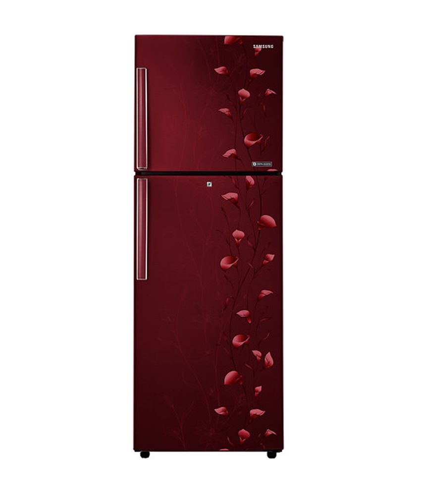 Samsung 253 Ltr 4 Star RT27JAMSERZ Double Door Refrigerator - Tender Lily Red