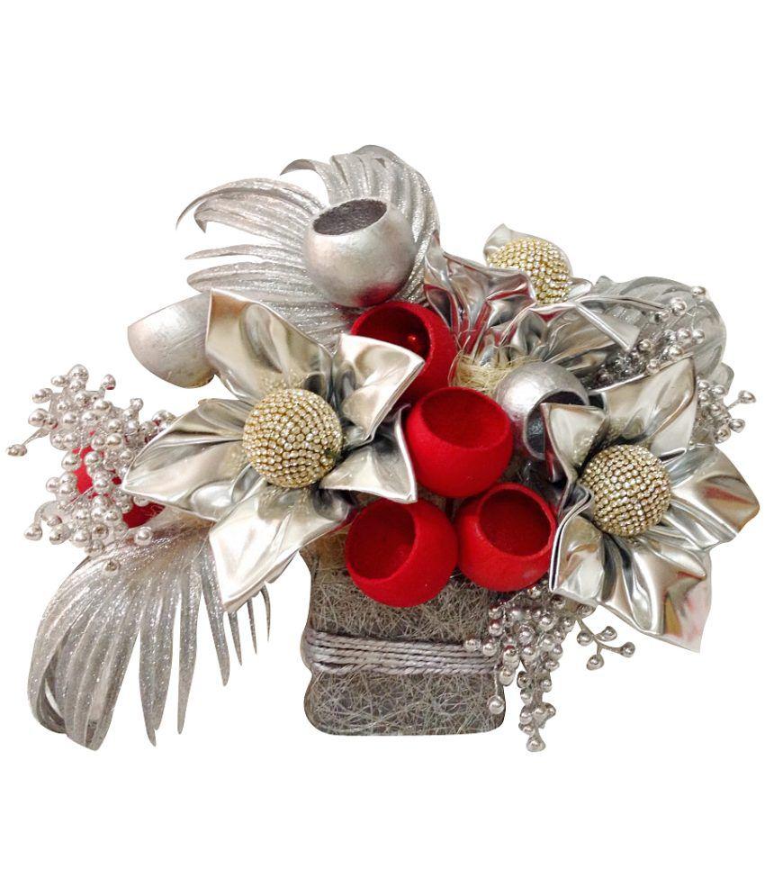 Sukhi Creation Silver Leather Flower Bouquet: Buy Sukhi Creation ...