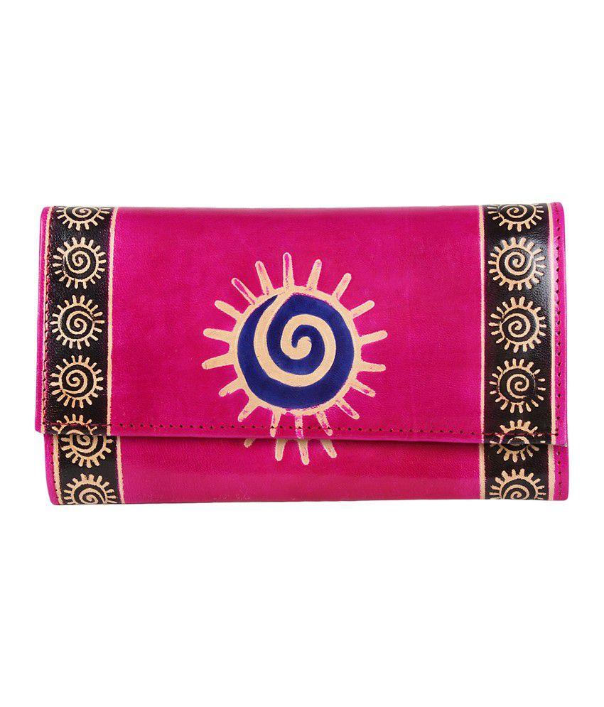 Bags Craze Pink Zip Stylish and Sleek Clutch