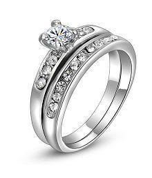 91da19f04 Quick View. Rm Jewellers 92.5 Sterling Pure Silver American Diamond Stylish  ...