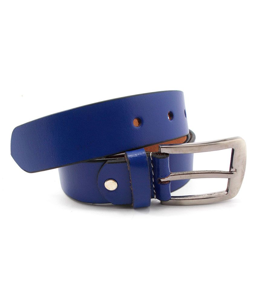 Inle Street Kanpur Blue Leather Formal Men Belt