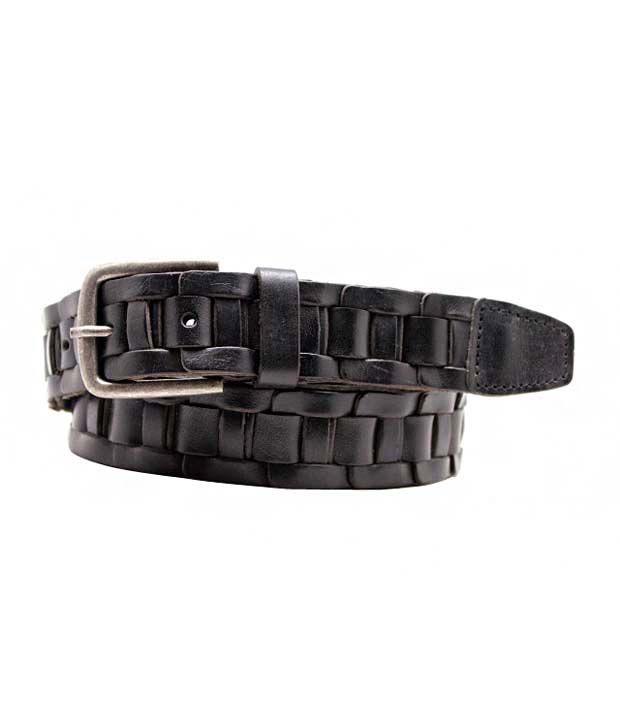 Lapalma Black Leather Single Designer Belt