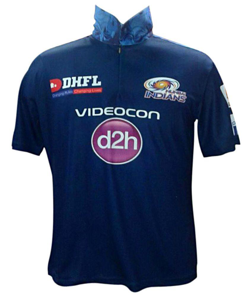722ef127e Mumbai Indians Official Men s Blue Half Sleeves Practice T-Shirt - Buy  Mumbai Indians Official Men s Blue Half Sleeves Practice T-Shirt Online at  Low Price ...