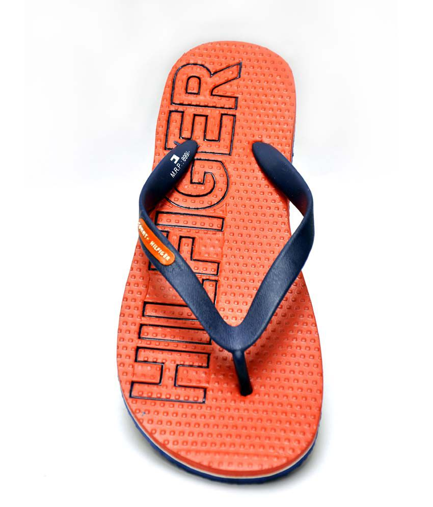 55d4f4904847 Tommy Hilfiger Orange Slippers Price in India- Buy Tommy Hilfiger ...
