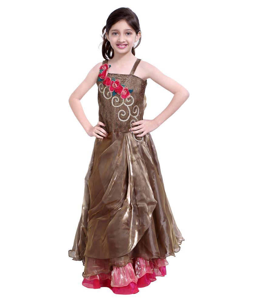 Basil Leaf Brown Velvet Party Wear Gowns Buy Basil Leaf Brown