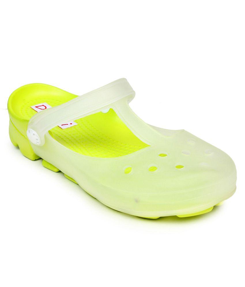 Do Bhai Yellow Low Heel Flip Flops