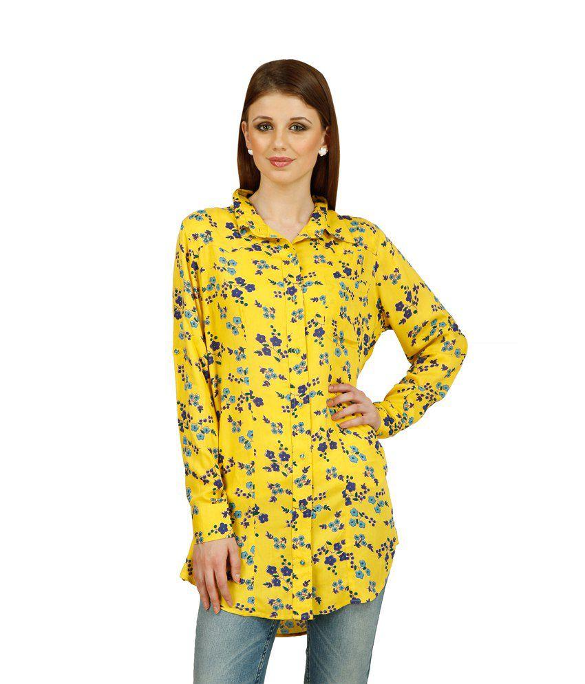 Raaziba Yellow Rayon Shirts