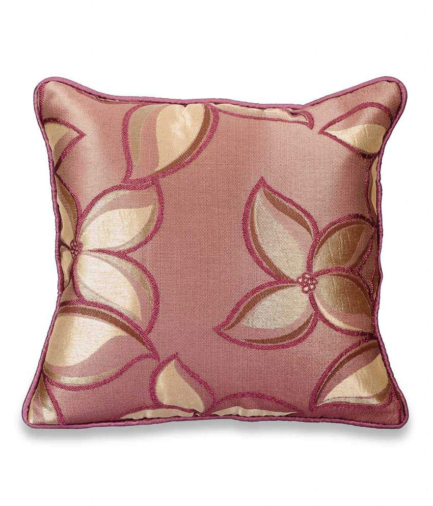 Desi Connection Golden Leaves Cushion Cover Combo Of 5