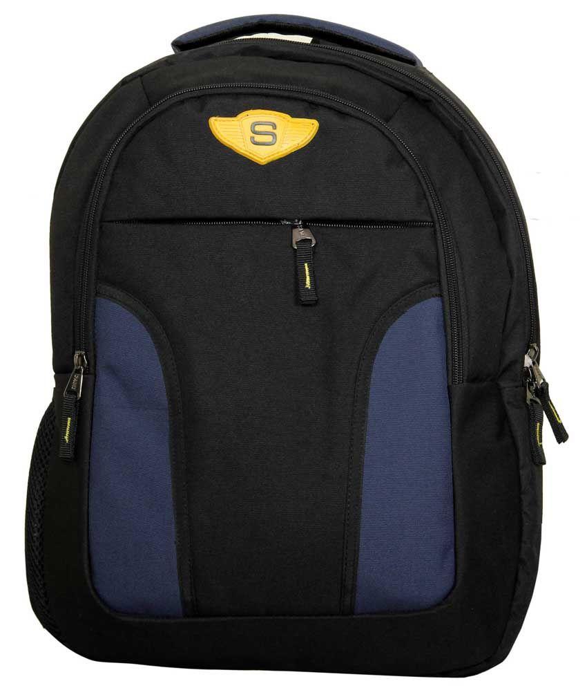 Sami Blue Polyester Laptop Back Packs