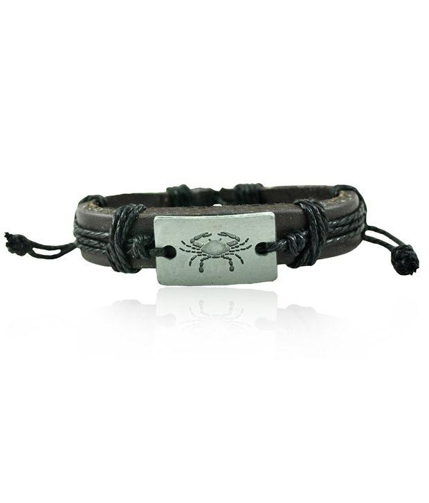 Alpha Man Brown Casual Leather Bracelet