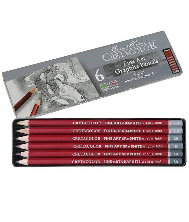 Cretacolor Cleos Fine Art Graphite Pencils Set of 6: Buy ...
