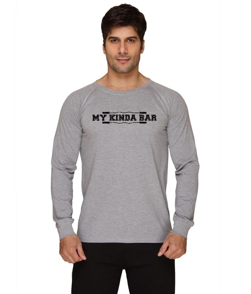 Sayitloud My Kind A Bar Gray Round Neck T-shirt