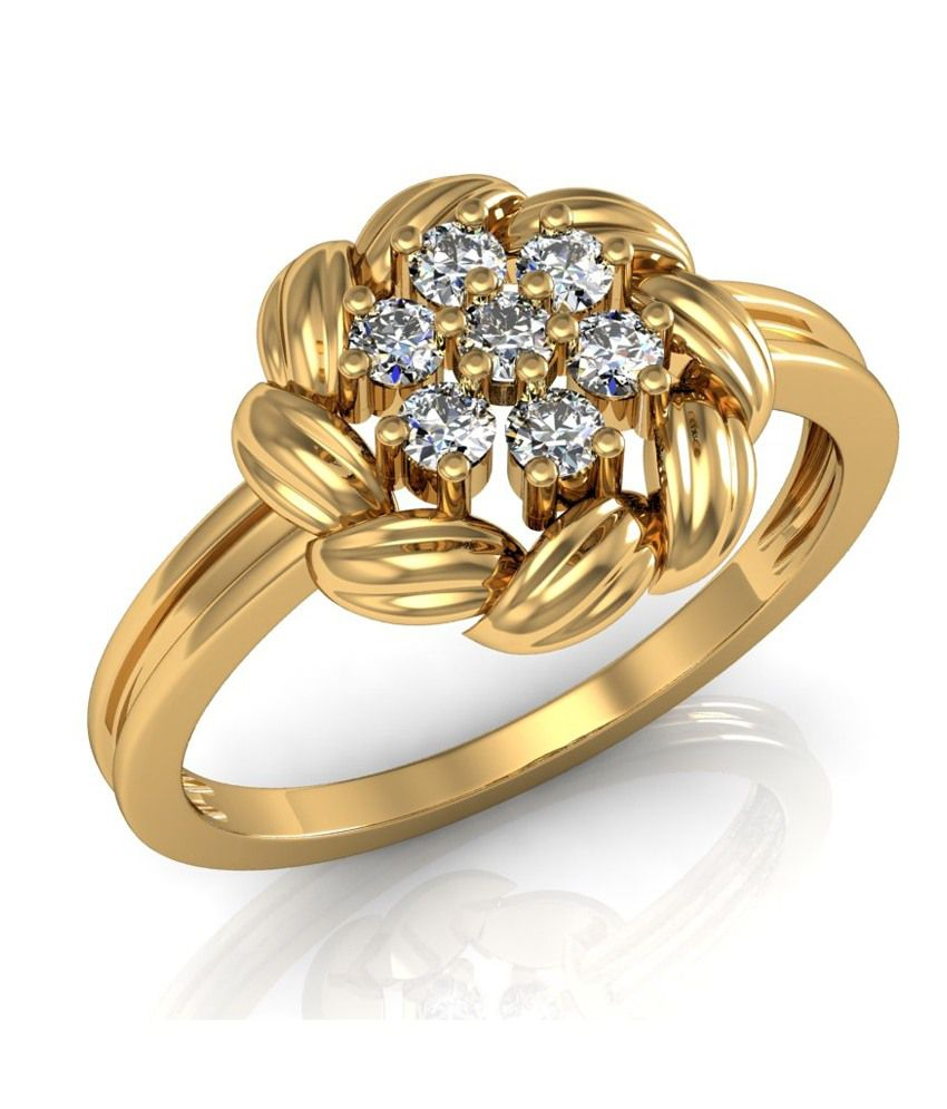 Vachya 14kt Gold Traditional Round Diamond Marvelous Ring