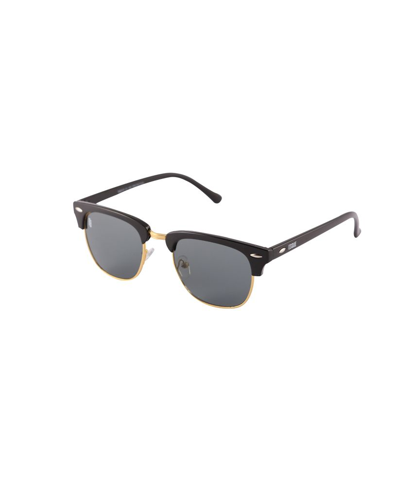 Esque Black Non Metal Wayfarer Sunglasses