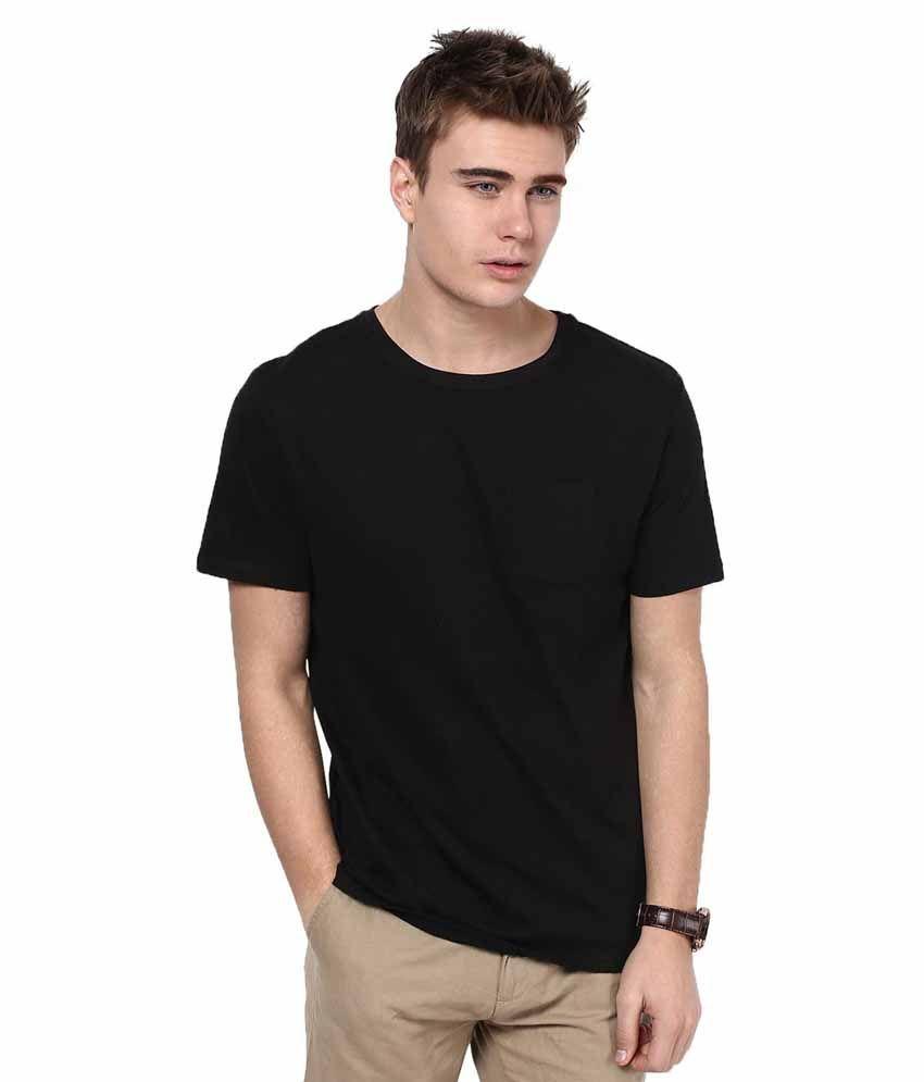 Tshirt Company Black Cotton Round Neck T-Shirt