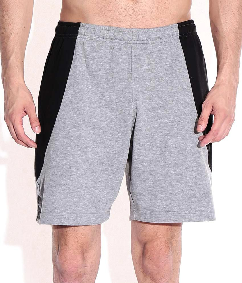 2go Gray Cotton Solids Shorts