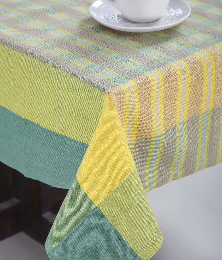 59532b3c1 Fab India AM09 Yellow   Green Cotton Woven Mundita Table Cover - Buy Fab  India AM09 Yellow   Green Cotton Woven Mundita Table Cover Online at Low  Price - ...