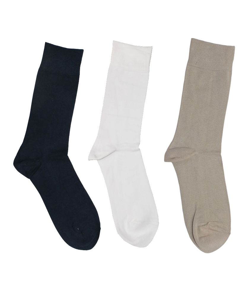 The Suit Combo Of 3 Pair Cotton Full Length Socks
