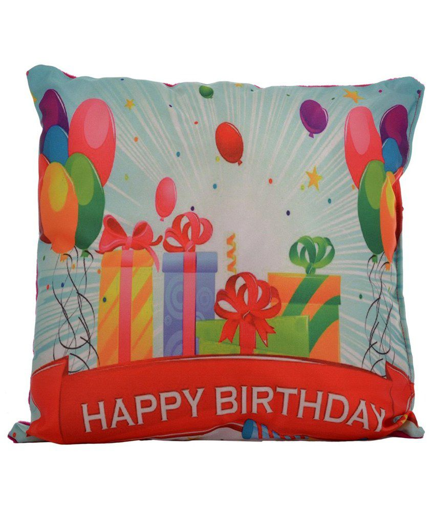 Twisha Happy Birthday Gifts Printed Pillow