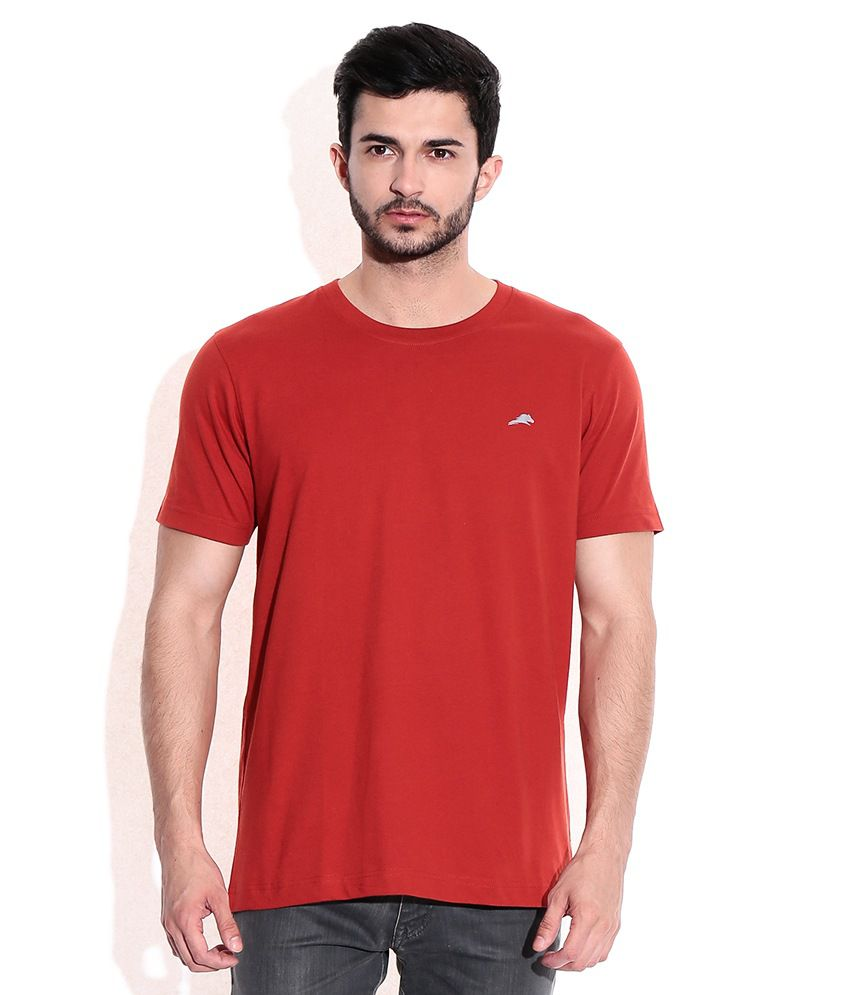 2go Red Cotton Round Neck T-Shrits
