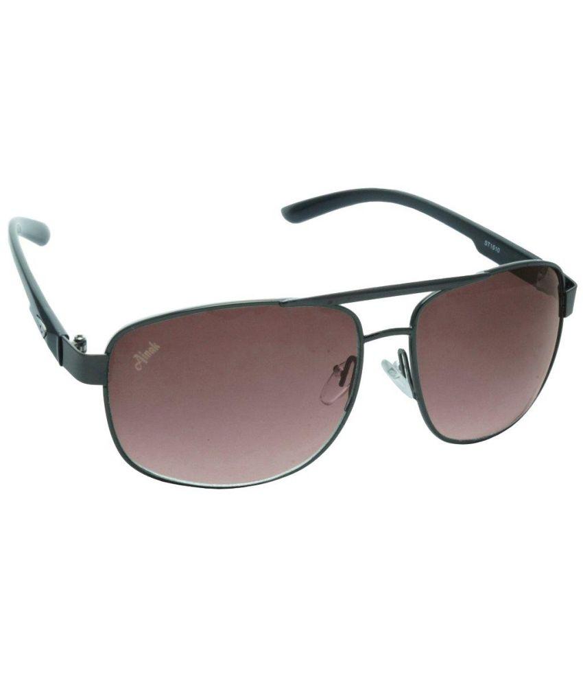 Ainak Brown Aviators Sunglasses Ai-0052-aic52