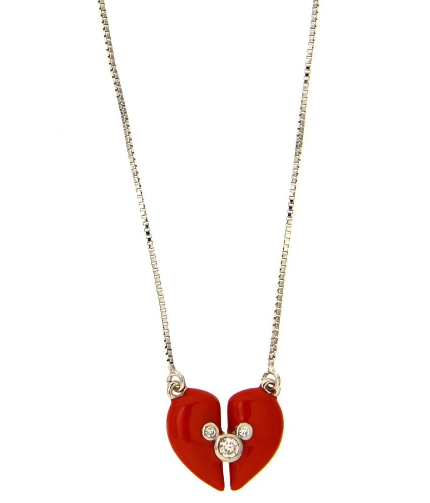 Disney Micron Silver Plated Mickey & Friends Necklace