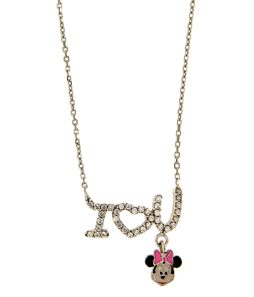 Disney Micron Silver Plated Minnie Necklace