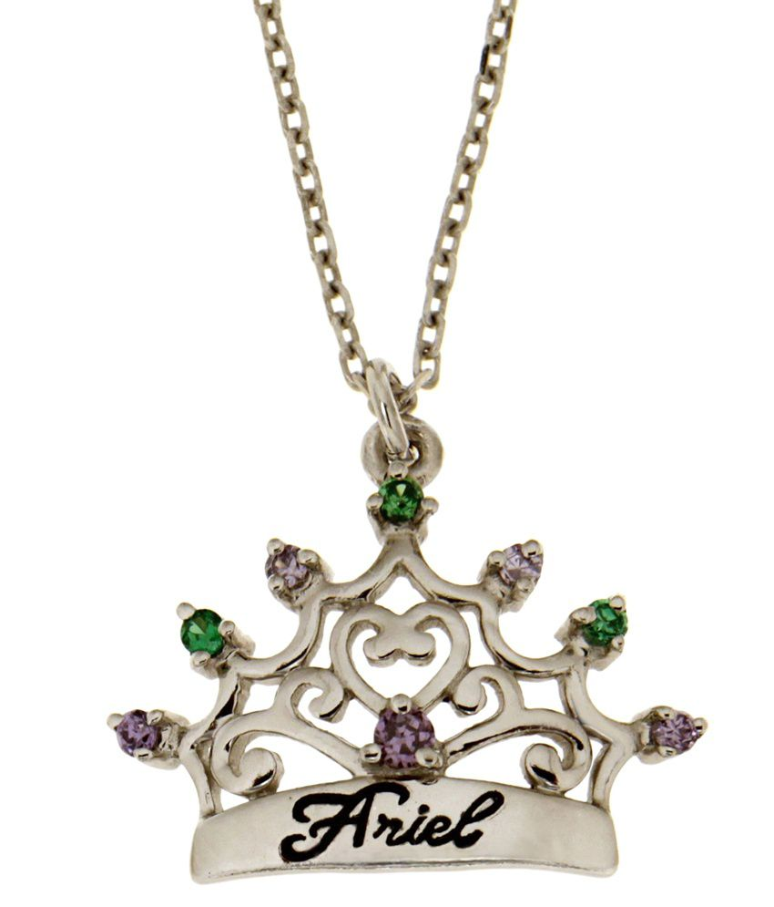 Disney Micron Silver Plated Princess Ariel Necklace